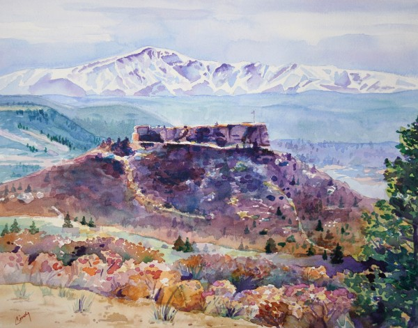 """Castle Rock and Pikes Peak"""