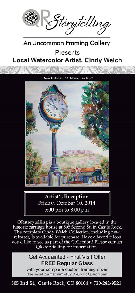 Cindy Welch Meet the Artist Reception October 10th, 2014 5:00pm – 8:00pm
