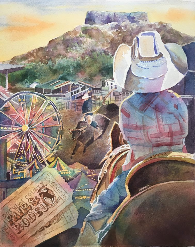 Cindy Wins, 2018 100th Year Celebration of the Douglas County Fair & Rodeo Art Contest!