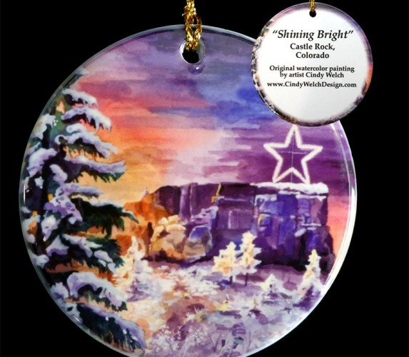 castle rock colorado ornaments