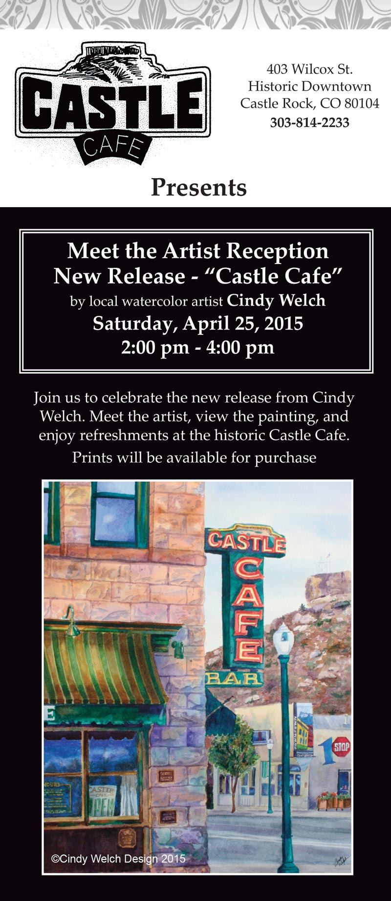 "Meet the Artist Reception New Release- ""Castle Cafe"""