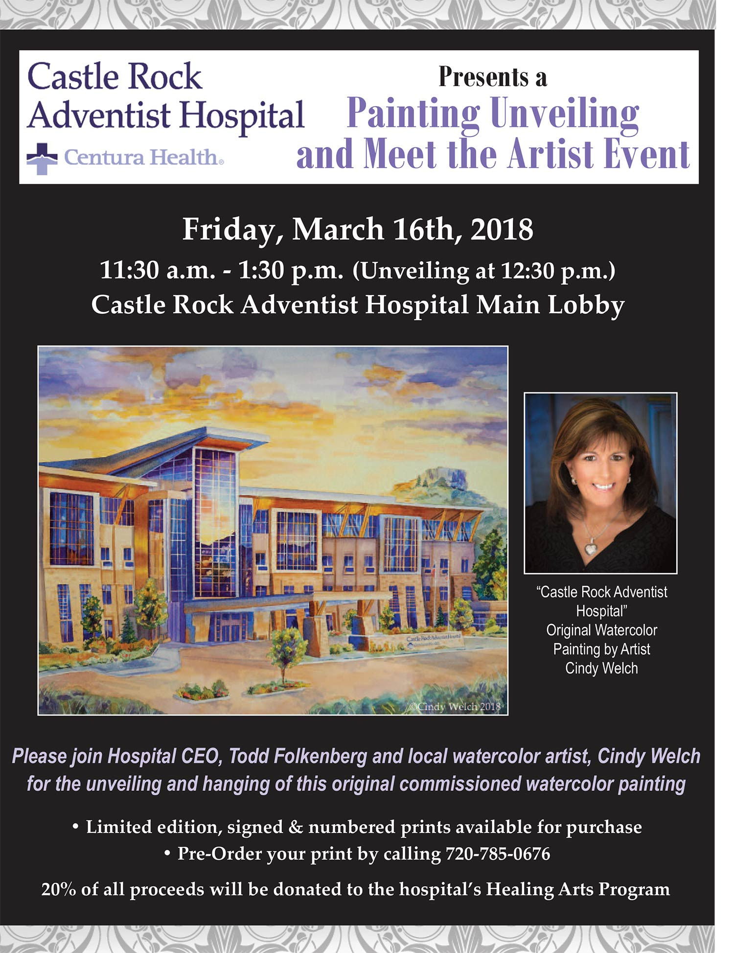 Castle Rock Adventist Hospital In Castle Rock Unveiling New Painting