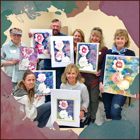 castle rock watercolor painting class