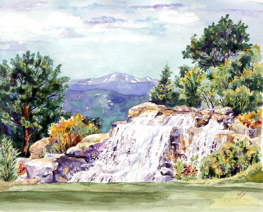 New painting shares beauty of waterfall-Castle Rock News Press