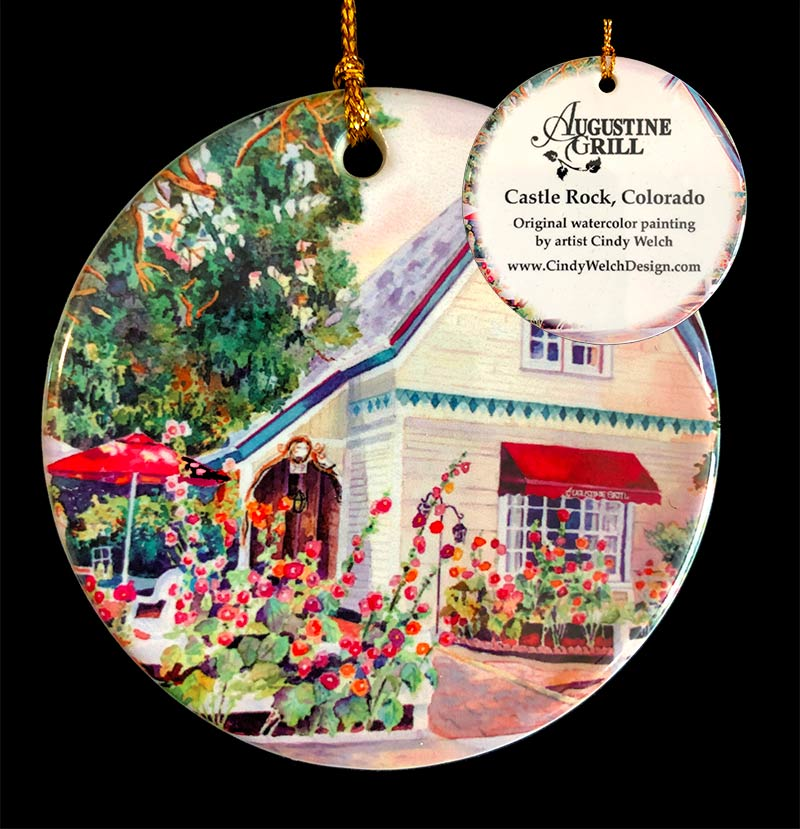 Augusting Grill Castle Rock Ornament