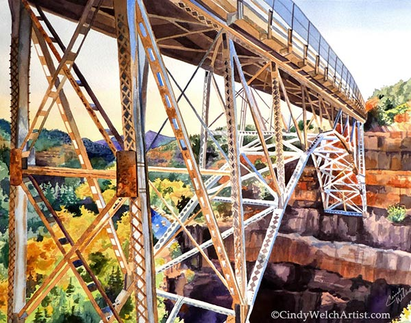 Canyon Crossing painting in castle Rock