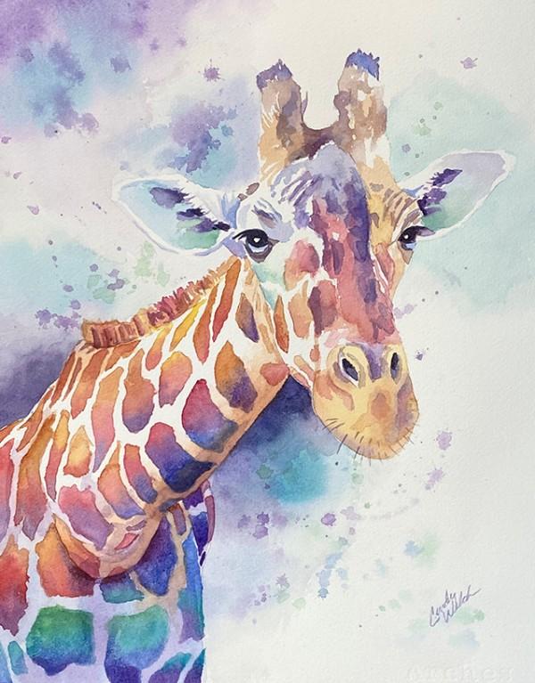 Giraffe painting2